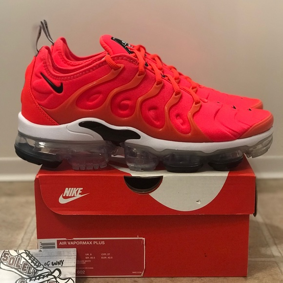 outlet store dc611 50889 NEW Nike Air Vapormax Plus Crimson Red Black 720 NWT